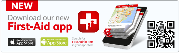 Download our First Aid App for Pets